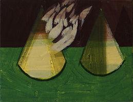 뿔과 원뿔, watercolor on canvas, 35 x 27.3 cm, 2016