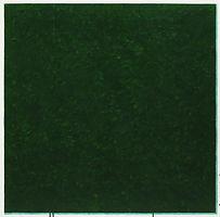 녹색, watercolor on canvas, 100x100cm, 2018