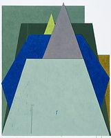 두 개의 뿔, watercolor on canvas, 162.2x130.3cm, 2018