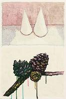 뿔과 열매, watercolor on paper, 56.5 x 38 cm, 2014