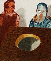 얇은 역사-부분7, watercolor on canvas, 가변크기(각 45.5 x 38 또는 45.5 x 33.5 cm), 2015