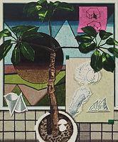 그리고 싶은 것과 창문, watercolor on canvas, 72.7 x 60.5 cm, 2016