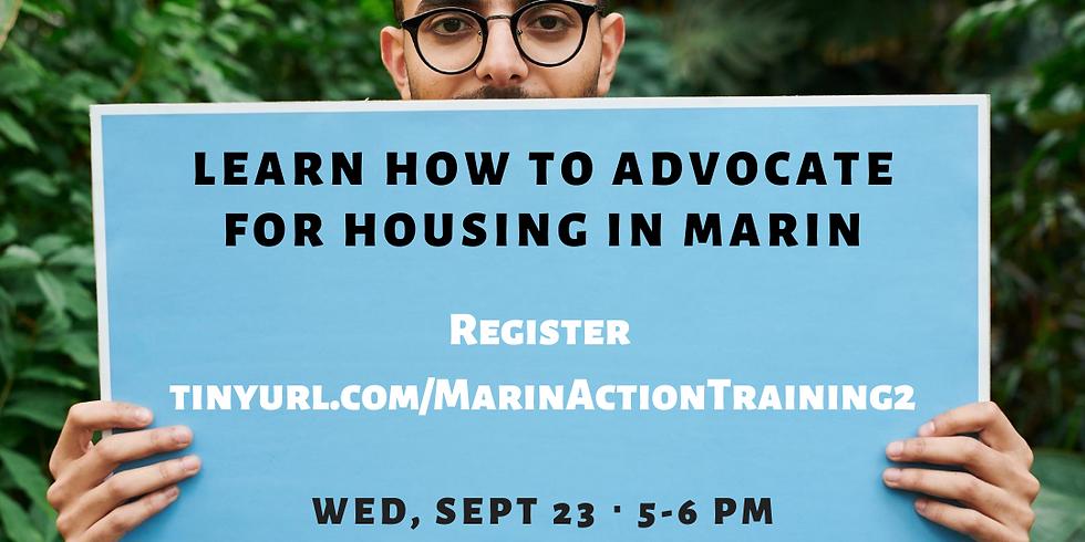 Marin Housing Advocacy Training (Part II)