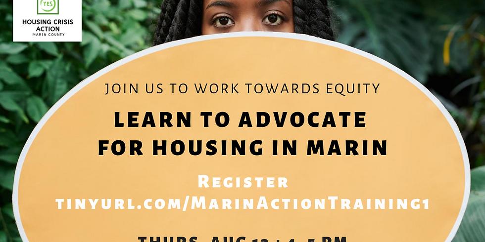 Marin Housing Advocacy Training (Part I)