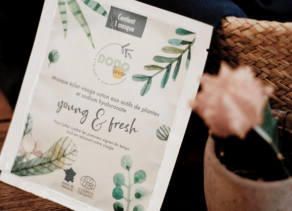 """Young & Fresh"" organic cotton face mask"