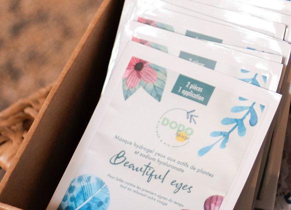 """Cure 1 month - 8 + 2 organic hydrogel eye masks """"Beautiful Eyes"""""""