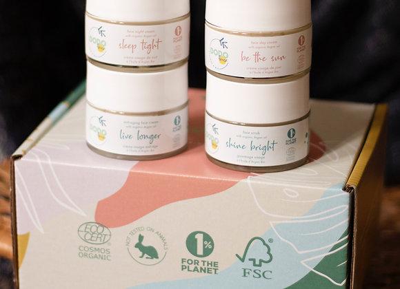 Box argan - 4 organic and vegan face creams