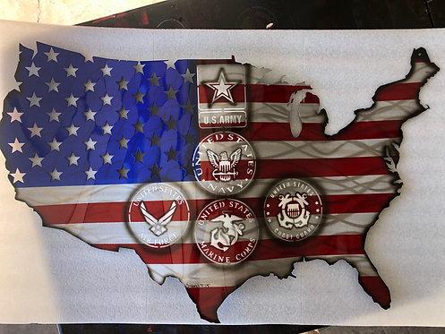 Custom personalized Continental USA