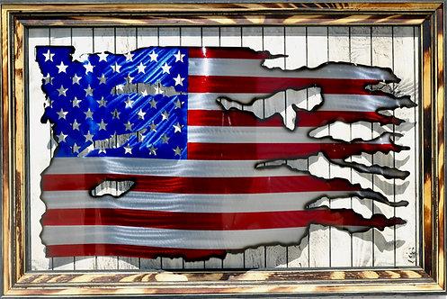 Tattered American Flag #1