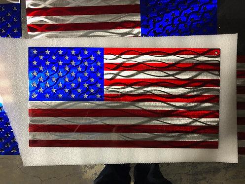 Steel American Flag Art #5