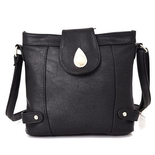 Larilla Tear Drop Clasp Cross Body Bag Black