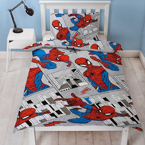Official Spiderman Flight Single Duvet Set