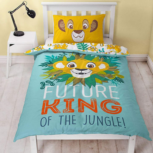 Official Lion King Single Reversible Duvet Set