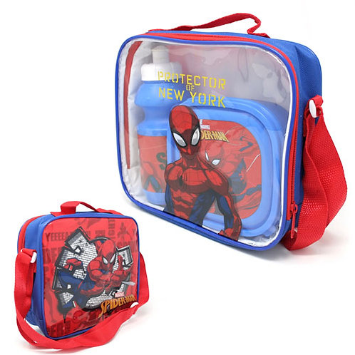 Official Spiderman Lunch Bag Set 3 Piece
