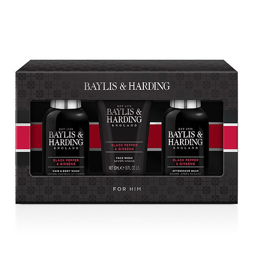 Baylis & Harding Signature Men's Black Pepper & Ginseng Trio Set