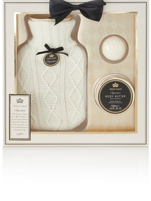 Style & Grace Signature Hot Water Bottle Gift Set