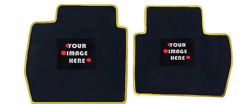 #1 Custom REAR Floor Mats with 1 image or letters