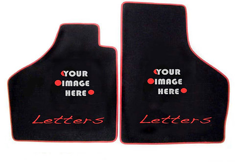 B#3 Custom Front Floor Mats with 2 images