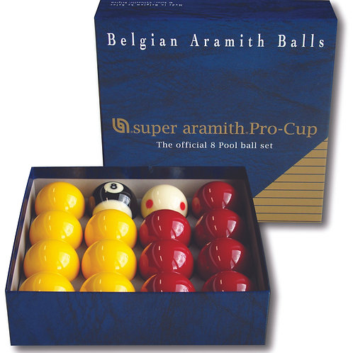 """2"""" Super Aramith Pro Cup League Pool Balls"""