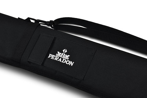 Black Full Zip Case for 3/4 Jointed Cue & Extension