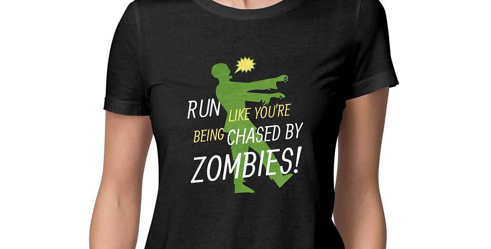 run like you are chased by zombies graphic tees- favourtees