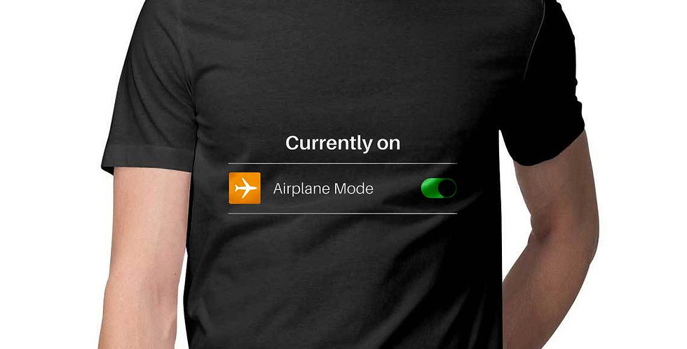 airplane mode printed funny t shirt- favourtees