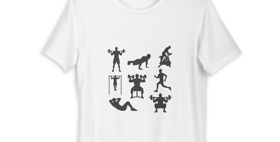 Workout styles gym t shirt
