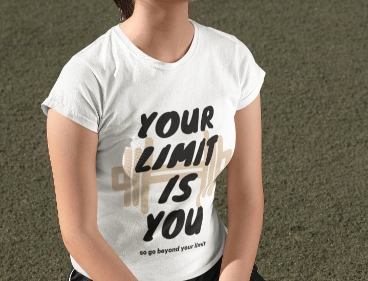Your limit is you gym t-shirt for women