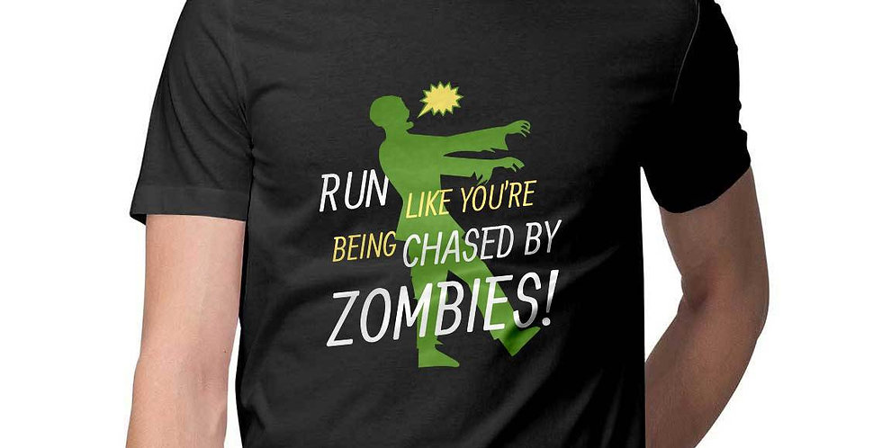 run like you are chased by zombies printed graphic tees- favourtees