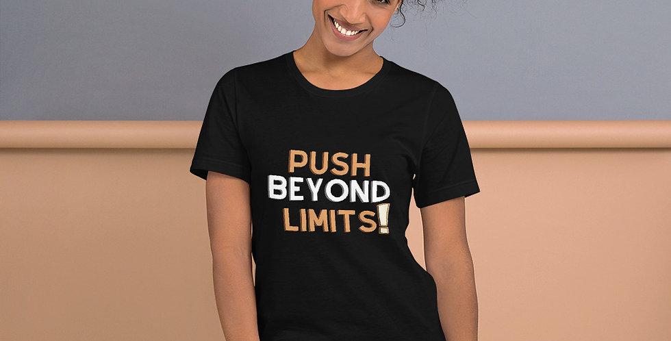 push beyond limits gym women t shirt