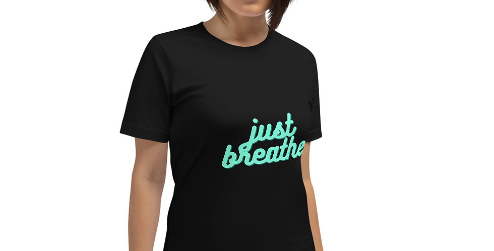 just breath printed t shirt- favourtees