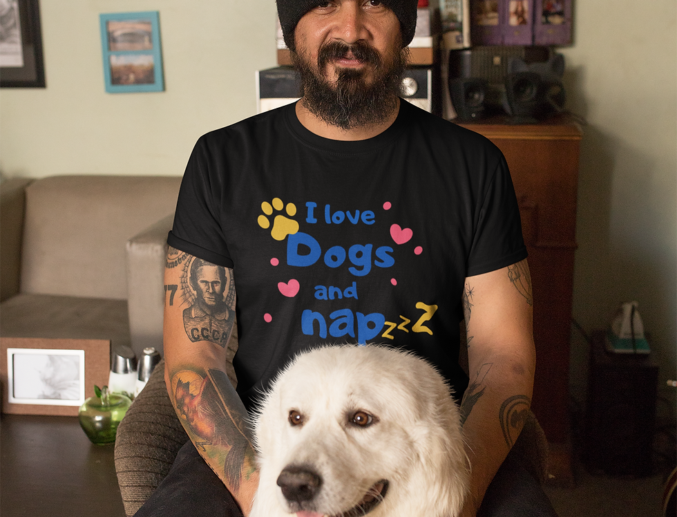 I love dogs and nap men t shirt