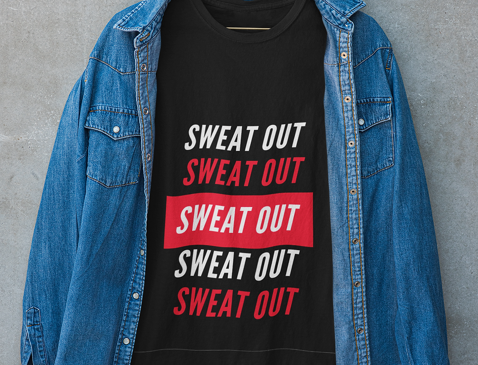 Sweat out gym t shirt