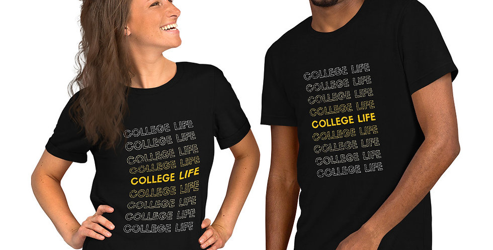 collage life printed funny t shirt