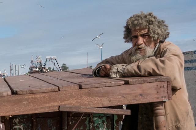Homeless man Morroco.