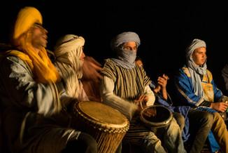 Drummers in the desert
