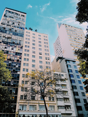 low-angle-shot-of-the-facades-of-multi-l
