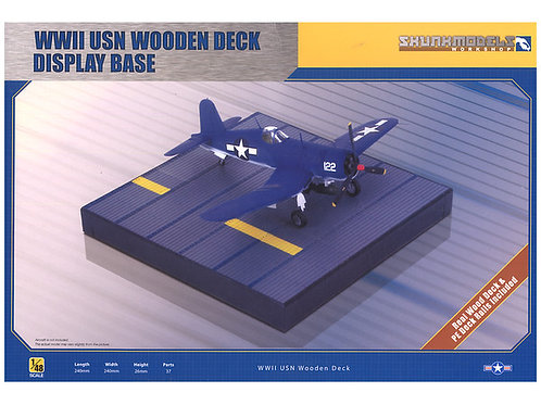 WWII USN Wooden Display Deck