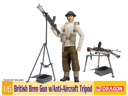 British Bren Gun w Anti-Aircraft Tripod
