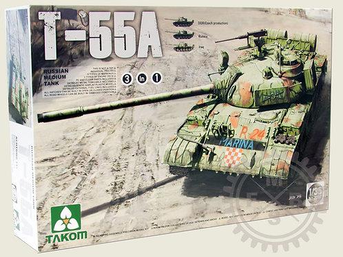 Russian Medium Tank T-55A 3 in 1