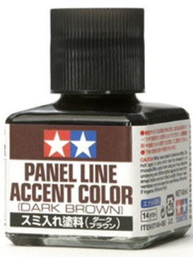 Tamiya Dark Brown Panel Accent Colour