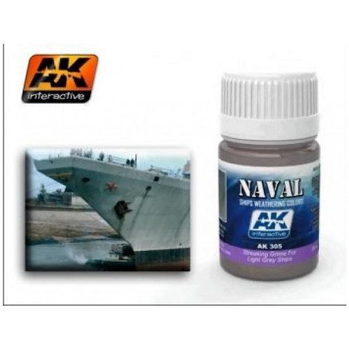 AK Wash - Streaking Grime for Light Grey Ships (Naval)