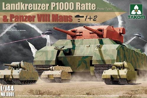 Landkreuzer P1000 Ratte & Panzer VIII Maus