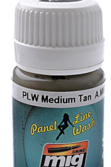 Ammo Wash - Medium Tan Panel Line Wash