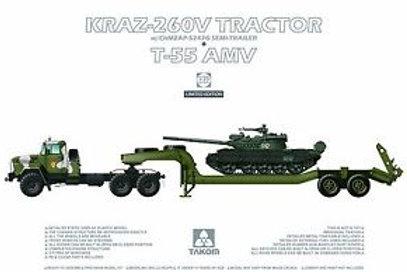 KraZ-260V Tractor w/ ChMZAP-524 + T-55 AMW