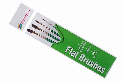 Flat Brushes - 4 Pack