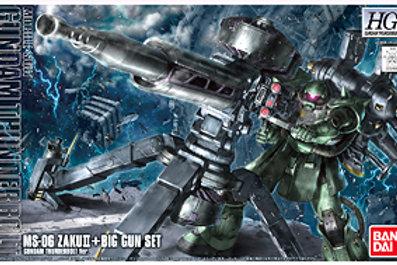 MS-06 Zaku II + Big Gun Set Thunderbolt Ver