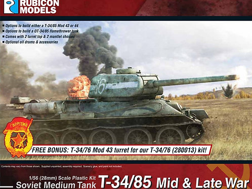 T-34/85 Mid & Late War Soviet Medium Tank