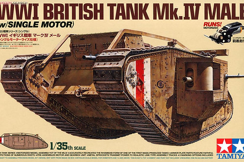 MM British Tank Mark IV Male (w Sinle Motor)