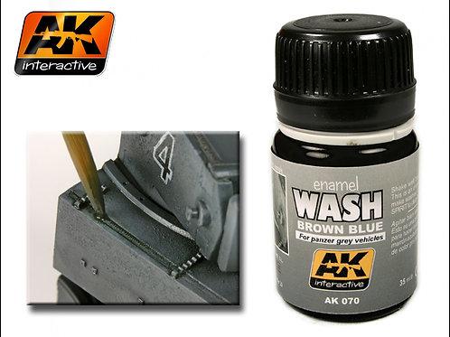 AK Wash - Brown Blue for Panzer Grey Vehicles - AK070